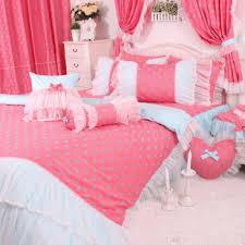 Girls King Size Bedding by Korean Pink Polka Dot Bedding Set Lace King Size Bedding Set Girls