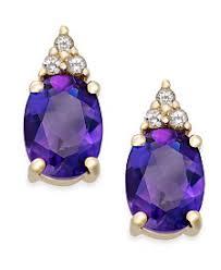 purple earrings amethyst earrings shop amethyst earrings macy s