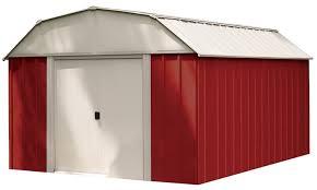10 ft x 14 ft shelter logic red barn steel shed groupon
