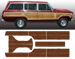 1991 jeep grand 1981 1991 jeep grand wagoneer woodgrain kit stripeman com