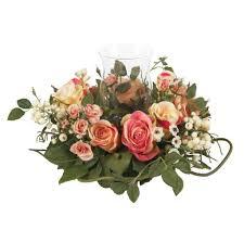 home decoration adorable pink fake floral arrangements for home