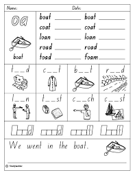 Oa Worksheets Vowel Digraph Oa Skills Activity