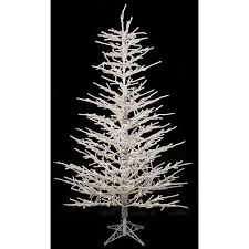 commercial pre lit clear light 7 ft flocked twig tree from
