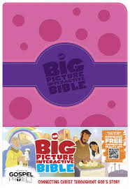 the big picture interactive bible for kids purple pink polka dot