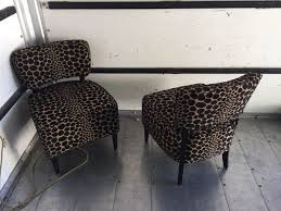 Leopard Print Accent Chair Pair Of Leopard Print Accent Chairs Furniture In Hayward