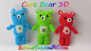 rainbow loom bears care bears teddy bears 3d charms loom
