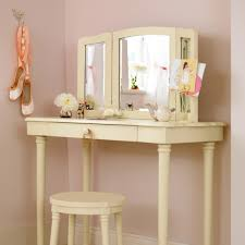 dressing table with mirror and light bulbs vanity decoration