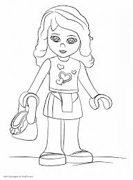 lego friends doll coloring page