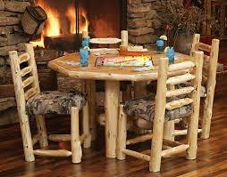 Log Dining Room Table Custom Log Dining Room Tables Diner With Upholstered Seat