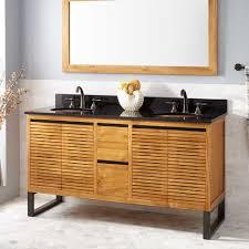 bathroom cabinets storage cabinet with doors teak wood vanity 36
