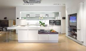 kitchen modern white kitchen with 2 tier glossy white marble