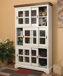 Bookshelf Glass Doors Bookcase With Doors Moberly Bookcase With Doors White 10 Spring