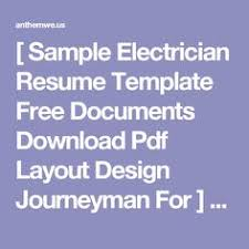 Electrician Resume Template Free Sales Representative Cover Letter Medical Equipment Writing Resume