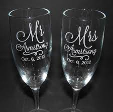 wedding gift engraving ideas wedding ideas personalized wedding toasting glasses custom