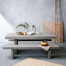 quarry indoor outdoor dining bench west elm