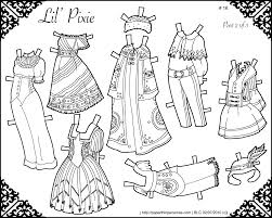 magnificent printable paper doll coloring pages doll coloring