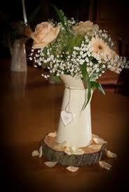 rustic wedding centrepieces jug arrangement by mrs custom