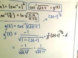 inverse trigonometric functions derivatives youtube