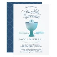communion invitations for boys holy communion invite boy s 1st communion card zazzle