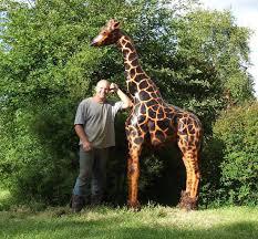 giraffe garden sculpture buy wooden animals wooden