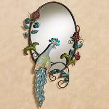 Peacock Decorations For Home Glorious Jeweled Peacock Wall Mirror