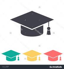 buy graduation cap hd graduation cap vector silhouette drawing free vector