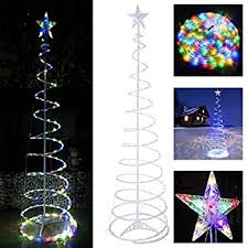 led spiral tree centerpiece ideas