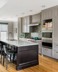 50 gorgeous gray kitchens that usher in trendy refinement transitional kitchen with traditional cabinets in gray design hp rovinelli architects
