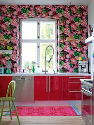 pink cupcake wallpaper kitchen shabby chic style with chic style