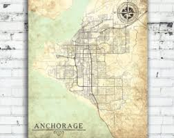 anchorage city map etsy