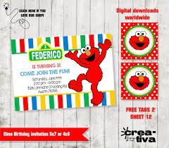 elmo invitation invitación cumpleaños elmo plaza sesamo free
