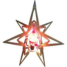atomic rotating merry glow christmas tree topper or table stand