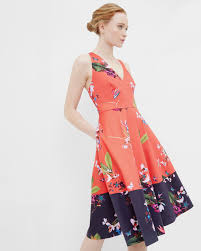 tropical oasis dress mid red dresses ireland site