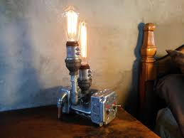 steampunk lamp industrial lighting furniture by novemberreserve on