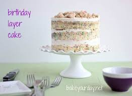 birthday layer cake
