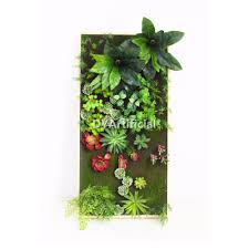 anti uv protection artificial plants wall panel with succulents