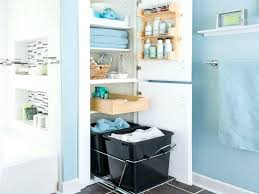 small bathroom shelving ideas take the door your bathroom linen closet for a chic and open
