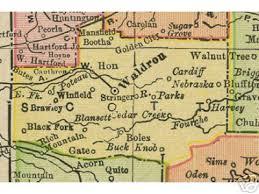 me a map of arkansas county arkansas genealogy history maps with waldron ar