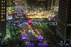 christmas tree lighting in campus martius opens downtown holiday