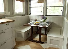 Kitchen Nook Ideas Bench Incredible Small Kitchen Breakfast Nook Design With Black