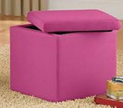 amazon com pink faux suede storage ottoman the stool makes a