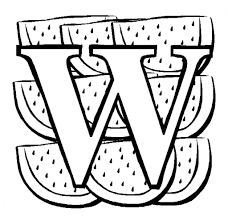 free letter w coloring pages all letter page preschool is for