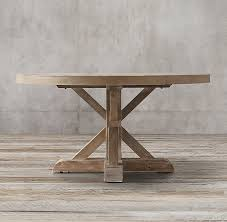distressed round dining table distressed elm belgian trestle round dining table love