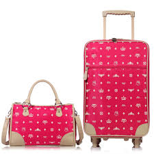 womens travel bags images Luggage sets trolley with handbag nylon polyester rolling wheel jpg