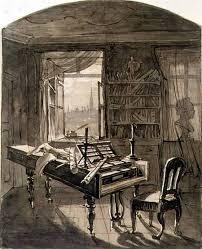hoechle u0027s sketch of beethoven u0027s studio 1827 my absolutely