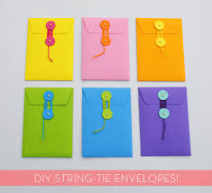 how to make envelopes how to make your own diy string tie envelopes curbly