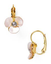 earrings new york kate spade new york disco pansy leverback earrings bloomingdale s