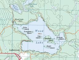 topographical map of wood lake wood lake