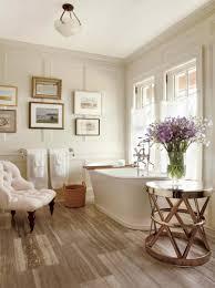 Spa Decor Bathroom Spa Bathroom Wood Floor Tiles Chaise Lounge Wall