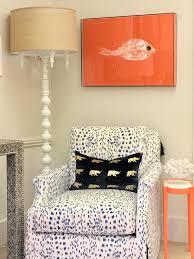 orange nantucket gyotaku fish print trellis home